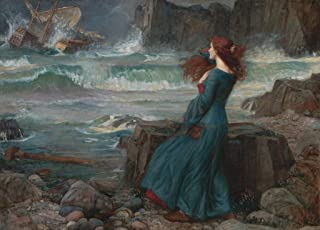 Wooden Jigsaw Puzzle - Miranda (The Tempest) by J. W. Waterhouse - 510 Pieces by Nautilus Puzzles