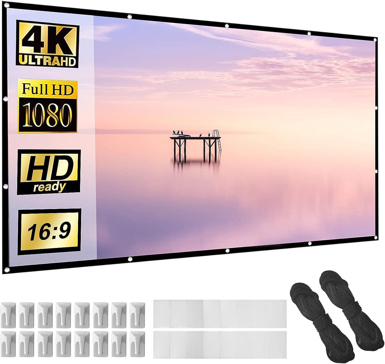 "Lejiada 16:9  120"" Foldable Anti-Crease Projector Screen $12.49 Coupon"