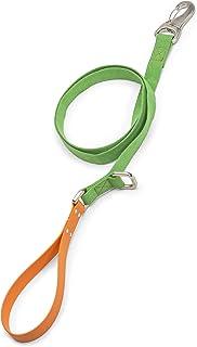 سلسلة توجيه للكلاب من ويست باو تروفز مع مقبض مريح، صغير، أخضر - برتقالي، صنع في الولايات المتحدة الأمريكية