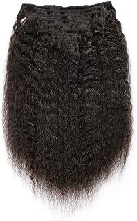 KeLang Hair Kinky Straight Clip In Human Hair Extensions Clip Ins Human Hair 9A Italian Coarse Yaki Brazilian Virgin Hair Clip In Extension 7pcs/lot,120gram/set 12inch