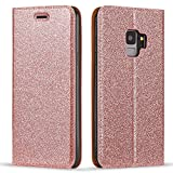 LLZ.COQUE for Samsung Galaxy S5 Case Bling Glitter Magnetic