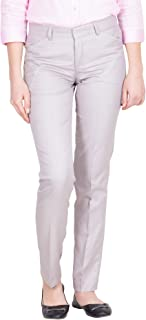 American-Elm Women's Slim Fit Formal Trousers