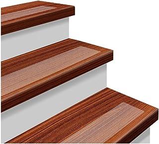 YISUN 階段マット 階段滑り止め 滑り止めテープ 屋内・屋外・階段 転倒防止対策に PEVA製 スリップ防止マット 巻長61cm*幅10cm 透明 15枚