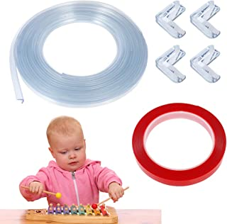 falllea Transparente Suave Protector para Esquinas Protección para Bordes de Mesas Protector de Bordes de Muebles para Beb...