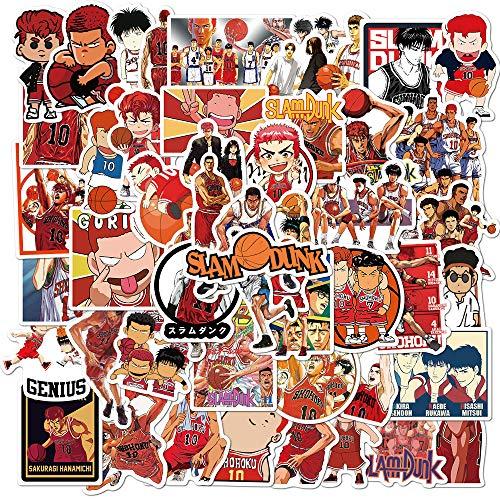 BAIMENG Anime Baloncesto Maestro Graffiti Pegatinas Decorado Equipaje portátil teléfono Casco Impermeable Pegatina 50 Uds