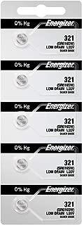 5 321 Energizer Watch Batteries SR616SW Battery Cell (5 Batteries Per Pack)