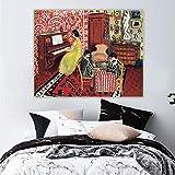 WKAQM Matisse Póster Nórdico Famoso Pared Arte Moderno Grabados Pianista Y Damas Jugadores Lienzo Pintura Sala Hogar Decoracion Cuadros 60x80cm Sin Marco