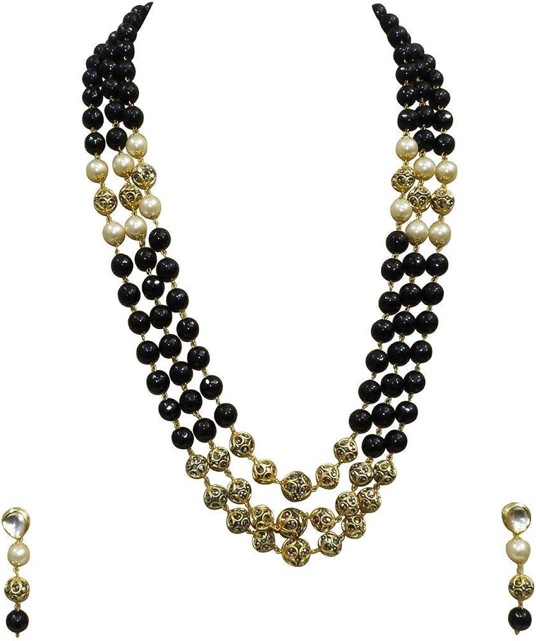 Babosa Sakhi Bollywood Maroon Onyx Necklace Indian Wedding Antique Jewelry Long Jewelry Set