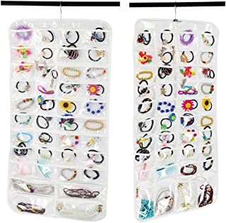 bracciale bianco collana 7 giorni settimanali salva spazio Tasca porta per gioielli da appendere alla porta porta armadio da appendere orecchini porta organizer in tessuto di lino