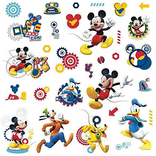 RoomMates RM - Disney Micky Maus Wandtattoo, PVC, bunt, 29 x 13 x 2.5 cm