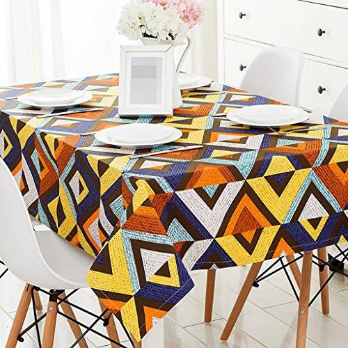 ZWL Toile de mode Moderne Géométrie simple Table de salle à manger Toile Matière Tissu Tissu Tissu Table ronde Table carrée Toile de table anti-poussière Tissu , Ajoutez de la vitalité à la cuisine ( taille : 110*170CM )