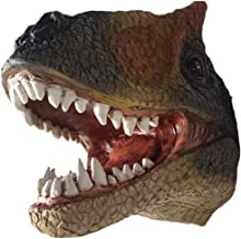 LUCKFY Wall Mounted T-rex Dinosaur Head Faux Taxidermy T-Rex Tyrannosaurus Rex Dinosaur Head Wall Mount Hanging Display Pl...