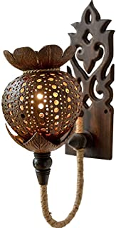 ZLMAY Vintage Wall Light,for Living Room Bedroom Kitchen, By Seaside Village,25x45x12cm