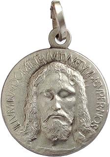 """Medaglietta Raffigurante """"Il Volto Santo di Cristo """" In Argento Massiccio 925"""