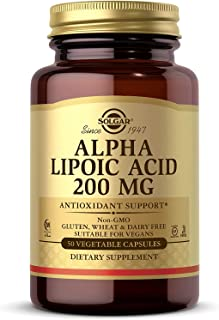 Solgar Alpha Lipoic Acid 200 mg, 50 Vegetable Capsules - Antioxidant Support - Helps to Recycle Glutathione, Vitamin C & E...