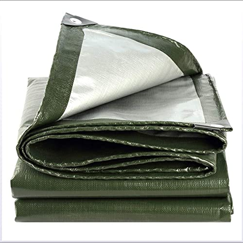 DJALSKJ Tarpaulin imperméable Heavy Duty, vert Sheet Sheet - Couvre-Sol Polyvalent extérieur et imperméable