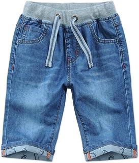 HOSD Pantalones Cortos para niños Verano para niños Pantalones de Mezclilla Cinco Pantalones para niños Pantalones para ni...