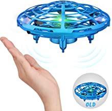Growsland Hand Operated Drones Toys for Boys and Girls, Infrared Induction Flying Helicopter Ball Drone with LED Light UFO Toys Gifts for Indoor and Outdoor