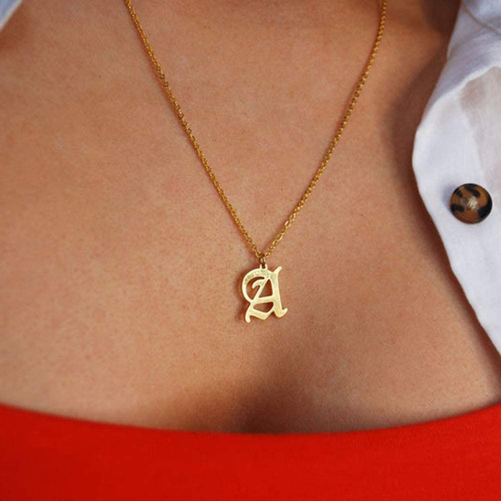 18k Gold Plated Letter Pendant Monogram Necklace Dainty Custom Jewelry for Women Misstrend Initial Necklace Personalized