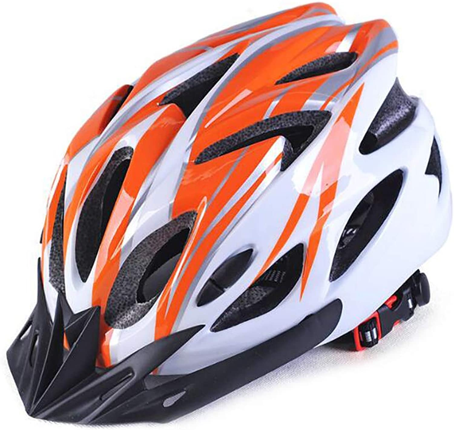 OUDTER orange and White Adult Cycling Bike Helmet Adjustable Size Comfortable, Lightweight, Breathable Road Safety Predection
