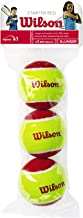 Wilson Unisex Child 2-WRT137001 Starter Tennis Ball - Red, One Size (Pack of 3)
