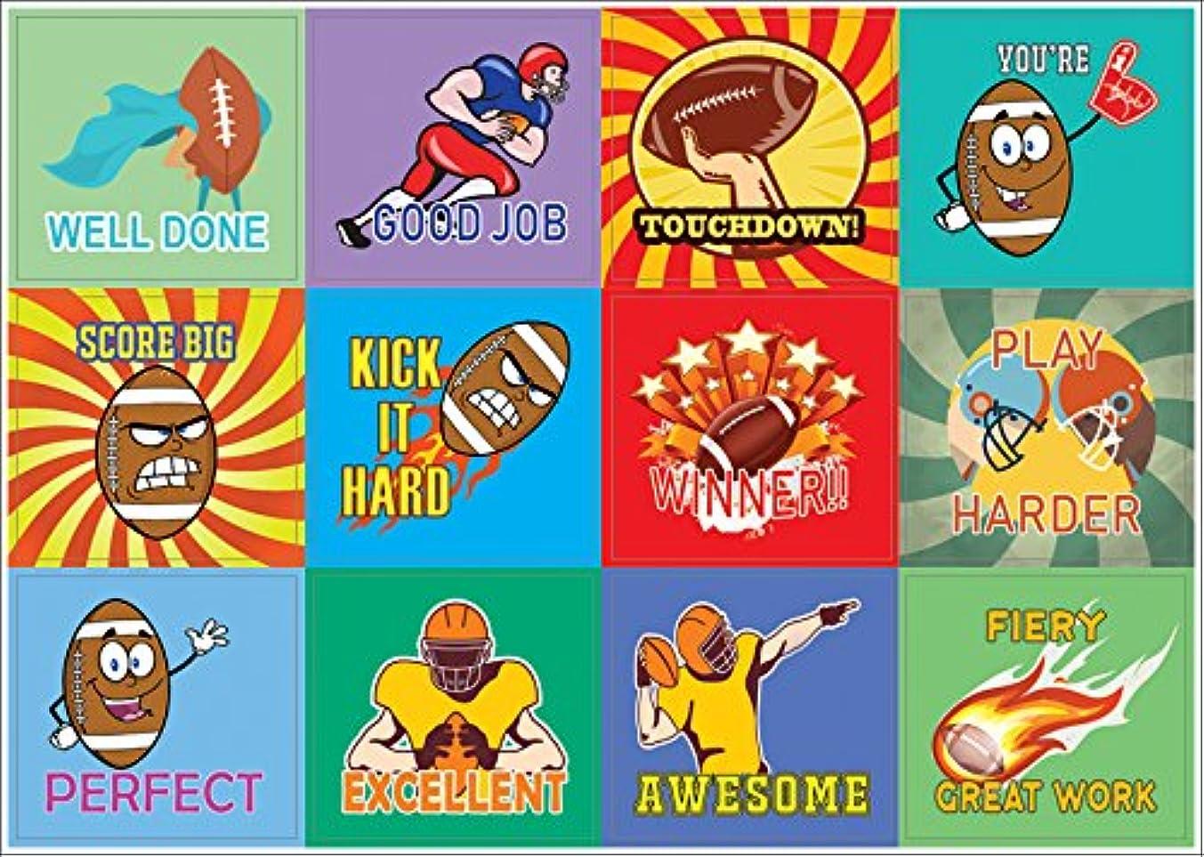 Sports Motivational American Football Stickers (10 Sheets) – Inspiring and Encouraging Words Sticker Decal Stocking Stuffers for Boys, Girls, Kids, Teens, Friends – Teacher Classroom Rewards Incentive