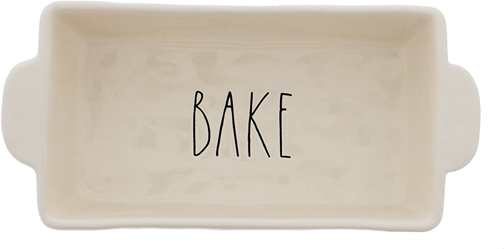 Rae Dunn By Magenta BAKE Large Letters Loaf Pan 9 In