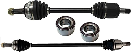 Detroit Axle - Pair (2) Complete Front CV Axle Drive Shafts Left and Right Side + (2) Front Wheel Bearings for 1998 1999 2000 2001 2002 Honda Accord 2.3L w/Automatic Transmission