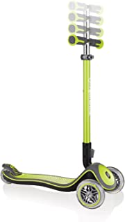 Globber Elite Deluxe 3 Wheel Scooter for Kids (Solid Deck with Anodized TBAR)