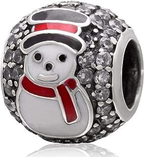 Santa Claus Charm 925 Sterling Silver Christmas Charm for Pandora Charm Bracelet (G)
