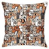 Klotr Kissenbezüge für Haustiere, Katzen und Hunde, Dekokissen, 45,7 x 45,7 cm