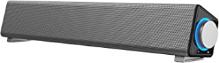 PC スピーカー 小型サウンドバー 出力最大6W 大音量 マイク端子とヘッドホン端子付 USB給電 AUX接続 テレビ/パソコン/スマホ/MP3対応