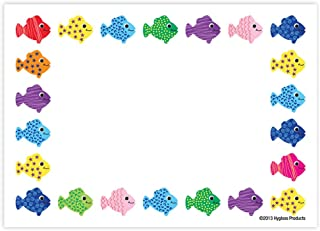 Hygloss Products Assorted Fish Self Adhesive Kids Name Tags – 3.5 x 2.5 Inch, 36 Pack