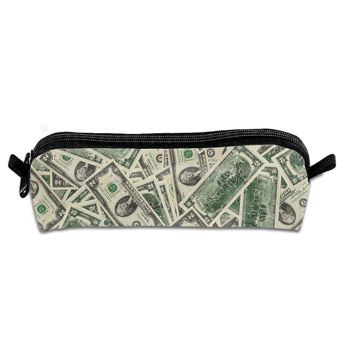 Diemeouk Pencil Case Dollar Money Paper Zippered Pen Bag Cosmetic Makeup Bags for Colored Watercolor Pencils