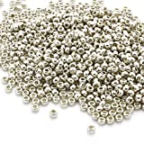 PRECIOSA Beads Unlimited–metálico Plata Checa Cristal rocalla/Semillas 8/0-pack de 50G