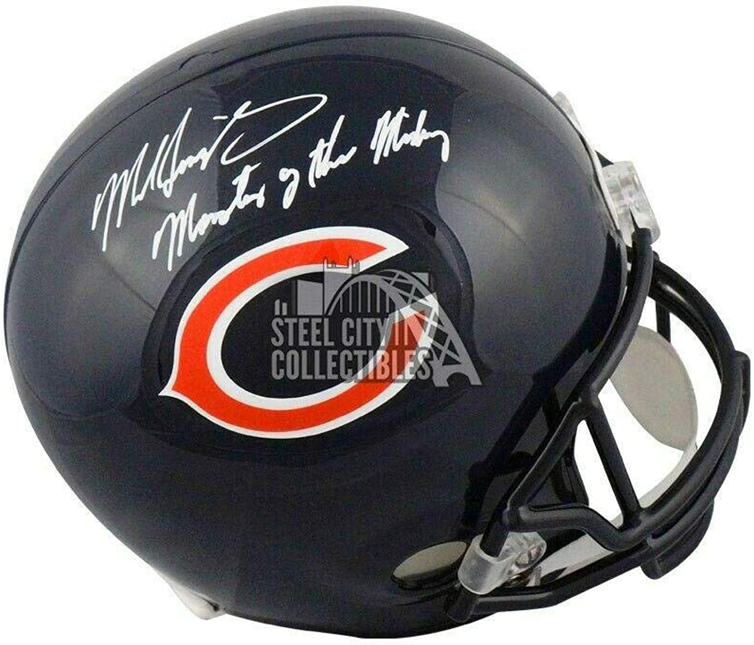 Autographed Mike Singletary Helmet  Monsters of The Midway Full Size BAS  Beckett Authentication  Autographed NFL Helmets