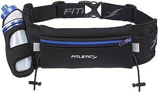 FITLETIC(フィトレティック)Fully Loaded ランニングウエストポーチ 防水ネオプレーン素材 iPhone6sPlus対応サイズ 12ozボトル付き ゼッケンホルダー付きHD-12GBLK/BLUS/M