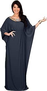 Womens Long Kaftan Flowy Casual Abaya Summer Evening Gown Maxi Dress