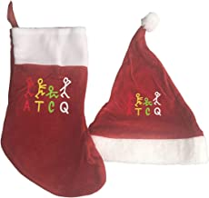 A Tribe Called Quest Logo Christmas Stockings and Santa Hat Gift/Treat Bags Xmas Party Mantel Decorations Ornaments Red
