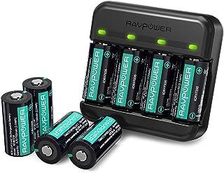 RAVPower Batería Recargable 8 Piezas 700mAh Cargador Arlo para cámaras de Seguridad inalámbricas Arlo VMC3030 VMK3200 VMS3330 3430 3530