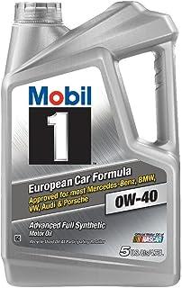 Mobil 1 (120760) 0W-40 Motor Oil, 5 Quart, Pack of 2