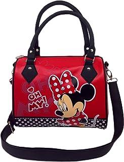 438703B Red Disney's Minnie Mouse Bowling Bag - Children's Small Fashion Bag