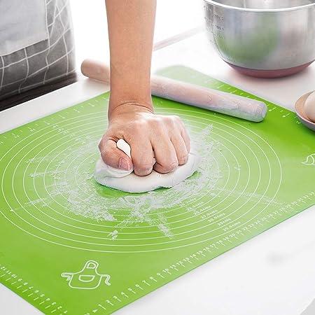 LIMNUO Large Silicone Pastry Mat Thick Non Stick Baking Mat, Fondant Mat,Counter Mat,Dough Rolling Mat, Oven Liner, Pie Crust Mat