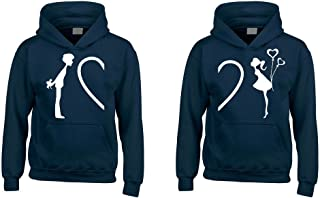 Complete My Heart His & Hers Couples Matching Hoodie Sweatshirts