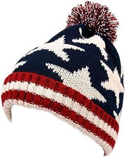 TrendsBlue Premium Unisex Warm Knit USA UK Flag Beanie Hat- Diff Designs
