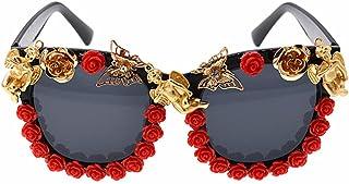 女性 サングラス ビンテージ バロック装飾 個性 ビーチ サングラス, ファッションサングラス