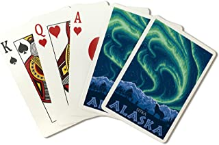 Northern Lights - Sitka, Alaska (Playing Card Deck - 52 Card Poker Size with Jokers)