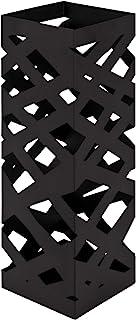 HAKU Porte-Parapluie en métal laqué Noir, Acier, 16x16x48