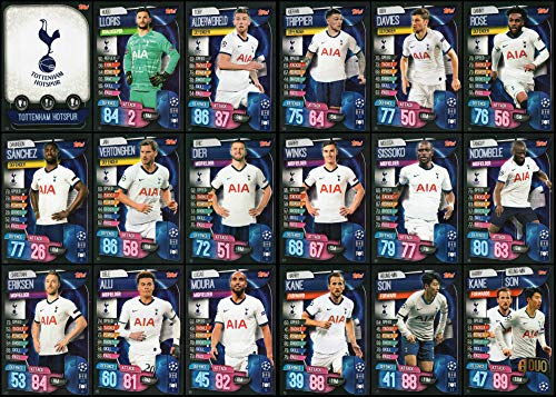 Match Attax 2016//17 completo equipo 18 tarjetas de Tottenham Hotspur