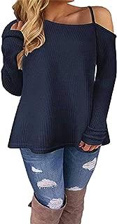 Howely Women Long Sleeve Off Shoulder Winter Fall Casual Shirt T-Shirts